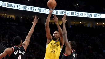 Warriors' Streak Snapped With Blowout Loss to Blazers