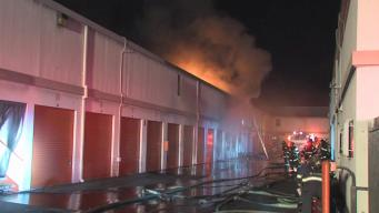 Four-Alarm Blaze Rips Through San Jose Storage Facility