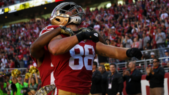 49ers Gut Giants, Offense Goes Wild in First Win of 2017