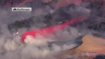 Fast-Moving Brush Fire Spreads to 150 Acres South of Gilroy_