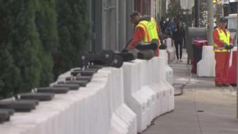 Flood Barriers Return to Folsom Street in San Francisco