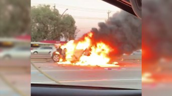 Two Injured Following Car Fires on 101 in Gilroy