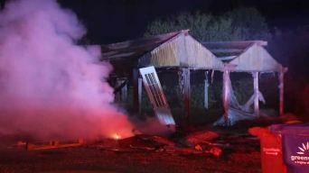Fire Wipes Out Several Greenhouses Near Morgan Hill