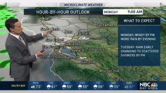 Forecast: Mostly Cloudy, Slight Rain Chance