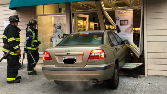 Car Plows Into Beauty Store in Redwood City
