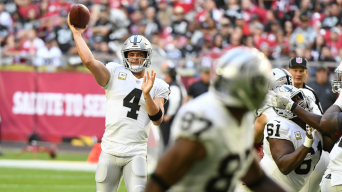 Raiders' Late Drive Produces a Rare Victory