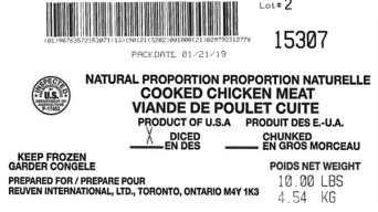 Listeria Risk Prompts Recall of 135K Lbs. Frozen Chicken
