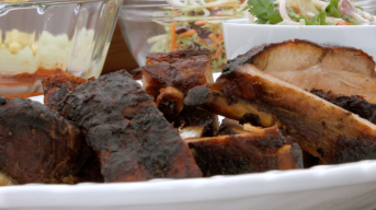 Tailgate Recipe: Asian-Style BBQ Ribs and Slaw