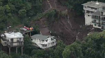 Rescuers Pull Woman From Home Wrecked by Sausalito Mudslide