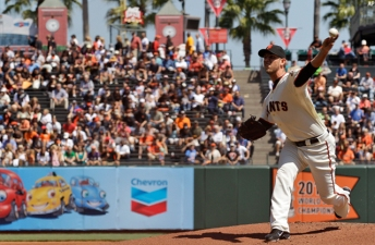 Bumgarner Brilliant, Giants Hit and Beat Cubs