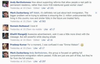 Zuckerberg Answers Immigration Critics on Facebook