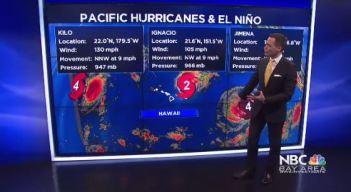 El Nino & 3 Pacific Hurricanes