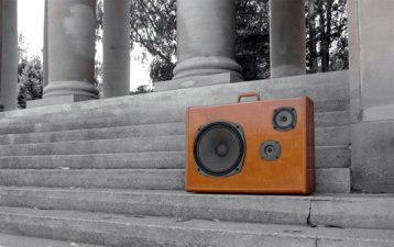 Boom Case: A Boom Box Hidden in a Suitcase