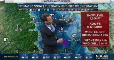 Jeff's Forecast: Bay Area Rain & Sierra Snow