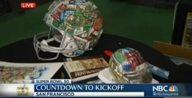 NFL Artist Paints Super Bowl Football Helments