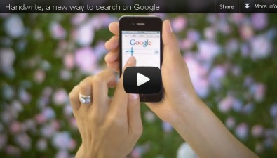 Hand-Written Search Now on Google