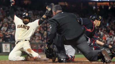 Giants Walk Off on Indians in 10 Innings to Snap Skid