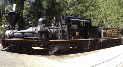 Ride a Yosemite-Close Train by Moonlight