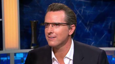 Sergey Brin Shows Gavin Newsom Project Glass