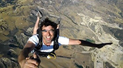 Watch Skydivers Jump With Google Glasses on