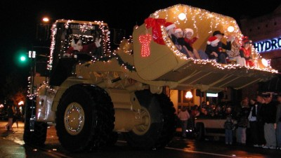 Calistoga's Lighted Tractor Parade