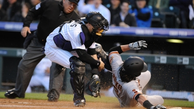 Cain Exits Early; Giants Stifled by Chatwood, Rockies