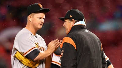 Cain Roughed Up by Reds, Giants Clobbered After Rain Delay