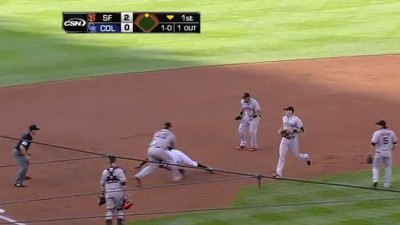 Giants Get Eric Young In Insane Pickle