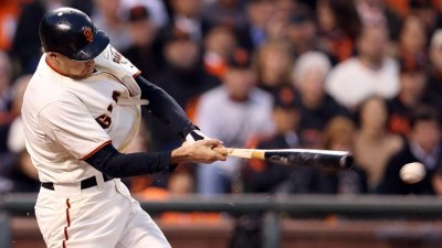Hunter Pence Broken Bat 'Triple Hit' Scores Three
