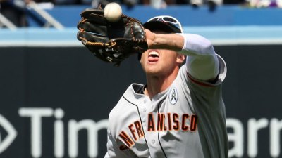 Hunter Pence Forgot How to Use Sunglasses Monday