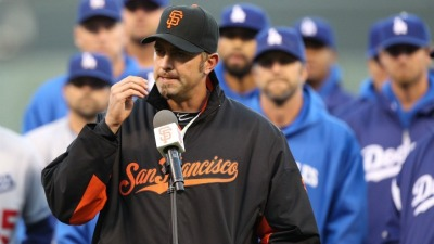 Affeldt Visits Stow in San Francisco Hospital