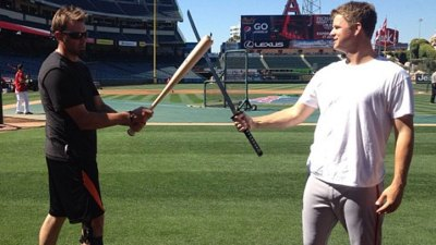 Matt Cain Gets Samurai Sword