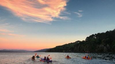 Evening Kayaking on Tomales Bay