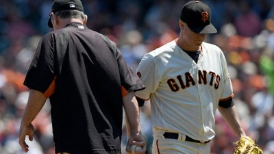 Giants Place Matt Cain on Disabled List With Back Pain