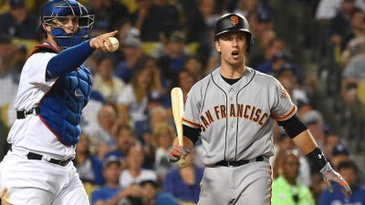 Giants on Losing End of Pitchers' Duel, Fall 3 Back of LA