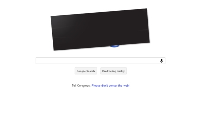 Google Doodle Goes Black to Protest SOPA