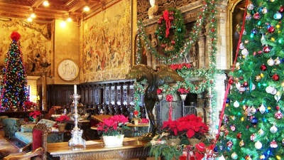 Wreaths, Boughs, Trees: A Hearst Castle Christmas