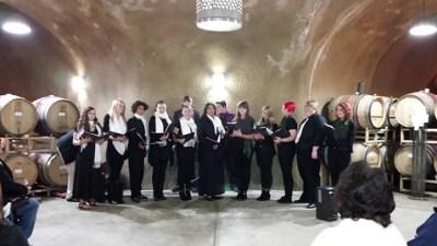 Saracina Vineyards: Caroling in the Caves