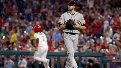 Giants Roughed Up Again, Drop Third Straight to Phillies