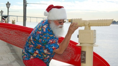 Surfin' Santa at Seaport Village