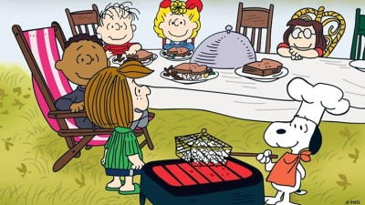 Thanksgiving Feast with Snoopy