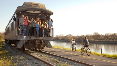 Train Day at a Train Landmark