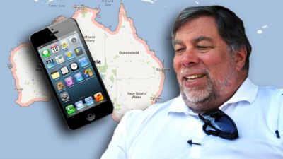 Woz Goes to Oz For His iPhone 5's
