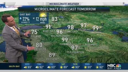 <p>Monsoon moisture will move near the Bay Area the next few days.  Chief Meteorologist Jeff Ranieri tracks when we&rsquo;ll have a slight chance in your Microclimate Forecast.</p>