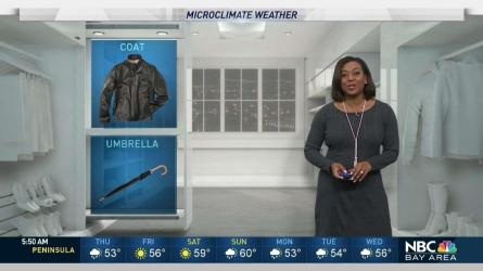<p>Spotty rain will drop into the Bay Area today with gusty winds. Meteorologist Kari Hall has details in the Microclimate Forecast.</p>