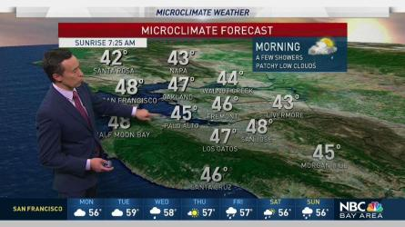 Bay Area Weather Forecast Maps And Doppler Radar Nbc Bay Area