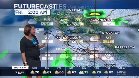 Rain is close to the Bay Area with times of rain possible over the next couple of days.