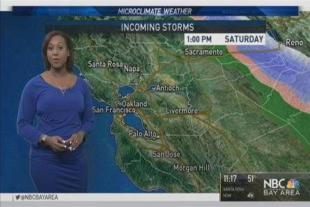Scattered showers today ahead of the second storm for the Bay Area. Details in the Microclimate Forecast.