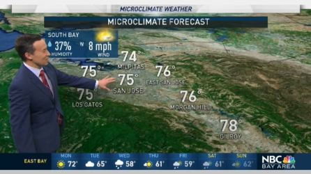 Bay Area Weather Forecast Maps And Doppler Radar Nbc Bay Area