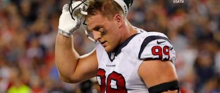 Report: Texans' Watt Re-injures Back, Season Up in the Air
